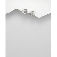A00420-SS Sterling silver Knot ear rings