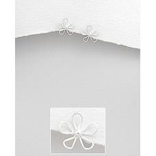 A17497-SS Sterling silver Flower ear rings