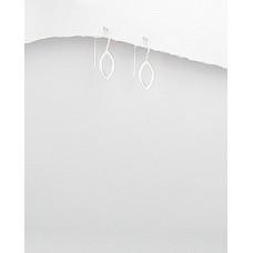A17608-SS Sterling silver hook ear rings