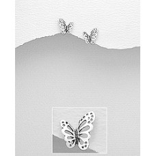 A01114-SS Sterling silver butterfly ear rings