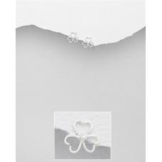 EE1115-SS  Sterling silver Heart  ear rings