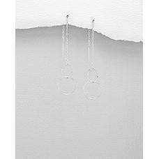 A19689-SS Sterling silver loop ear rings