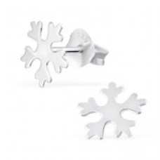 A01901-SS Sterling silver snow flake ear rings