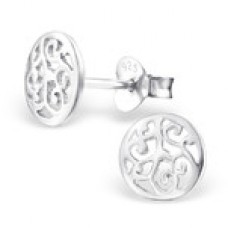 A01336-SS   Sterling silver cross ear ring