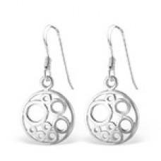 A01338-SS   Sterling silver cross ear ring