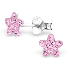 BB0006-PK Sterling Silver Star stud Ear rings