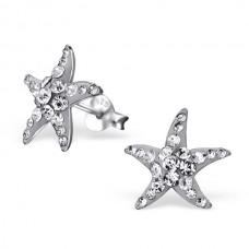 E00172-GR  Sterling Silver Star Fish Ear rings