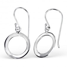 A01083-SS   Sterling silver donut hook ear ring