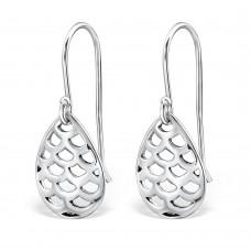 A07497-OX   Sterling silver tear drop ear ring