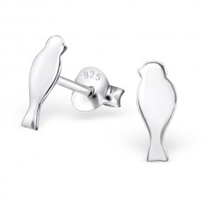 E01333-SS  Sterling Silver thin Bird Ear rings