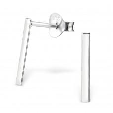 A02109-SS  Sterling silver linear ear rings