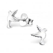 E02461-SS  Sterling Silver tiny Bird Ear rings