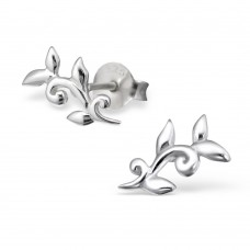 A06635-SS Sterling silver small leaf ear ring