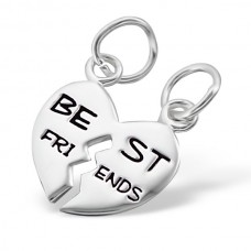 P05332-SS   Sterling silver best friends pendant necklace