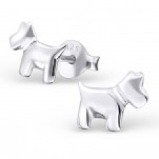 E01701-SS   Sterling Silver Dog Ear rings