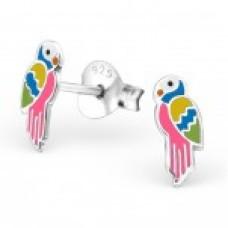 E01932-MX   Sterling Silver Parrot Ear rings