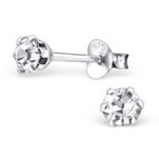 E0046P-CR   Sterling Silver Star stud Ear rings