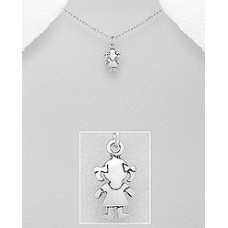 P01212-SS   Sterling silver GIRL pendant necklace
