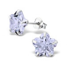E00004-PU Sterling Silver Star stud Ear rings