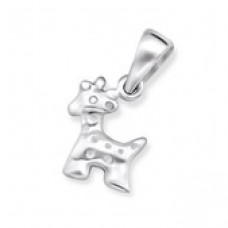 P00554-SS   Sterling Silver giraffe pendant necklace