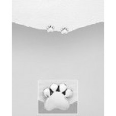 E01271-SS Sterling Silver Paw Ear Rings