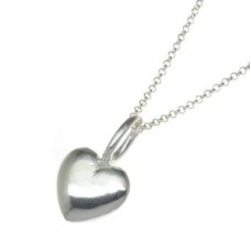 N00017-SS Sterling Silver Sml Bubble Heart Necklace