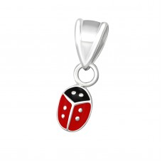 P01527-RD   Sterling Silver Little Ladybird pendant necklace