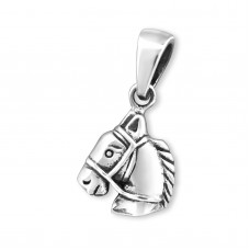 P06320-SS  Sterling silver horse pendant necklace