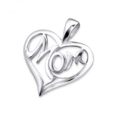 AN7439-SS   Sterling silver MOM necklace